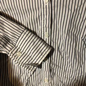 Ann Taylor Tops - ann taylor striped white blue button up size 6